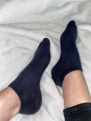 Getragene Socken Fussbild