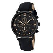 Herren Armbanduhr Geneva Gold Schwarz
