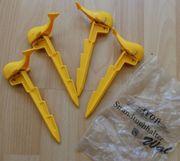 4 Strandtuchhalter - AVON Wal - gelb -