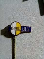 Opel Gilde Anstecknadel Gold Emaille