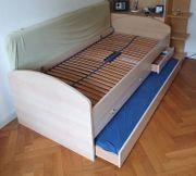 Jugendbett mit Ausziehbett Schubladen und