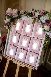 Hochzeit Holzwand für Tischordnung