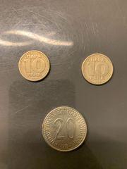Sammlung Jugoslawische Dinar Münze Geld
