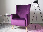 Sessel Samtstoff violett ONEIDA neu -