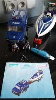 Playmobil 5187 Polizeiauto und Boot