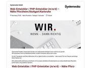 Web-Entwickler PHP-Entwickler m w d