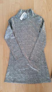 Mädchen-Kleidchen silber Gr 128 NEU