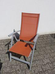 6x Liegestuhl mit verstallbarer Rückenlehne