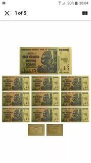 Banknoten sammlung