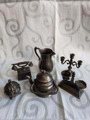 antike Miniaturspielzeug aus Zinn