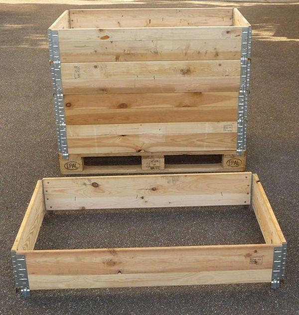 Hochbeet Stecksystem Palettenrahmen Gartenbeet Kiste