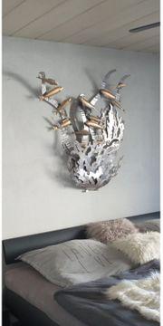 Wandbild Metall Fische