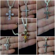 Verschiedene 925 Echte Silber Kreuzanhänger