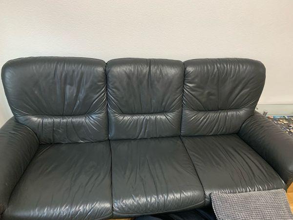 Echt Leder Couch mit 2 Sesseln zu verkaufen