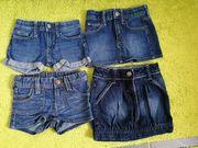 Jeansshorts kurze Jeansröcke gr 98