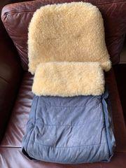 Lammfellsack für Kinderwagen
