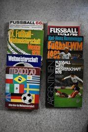 Seltene Sammlung Fußball-Weltmeisterschaften 1966 bis