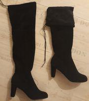 Overknee Stiefel in schwarz Gr
