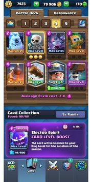 clash royale 20win maxed account