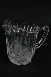 Milch-Sahnekännchen Sahnegießer Kristallglas handgeschliffen DDR