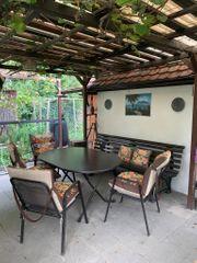 Gartenmöbel Set dunkelbraun
