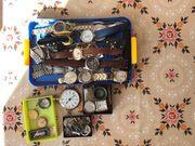 Konvolut mechanische und batteriebetriebene Armbanduhren