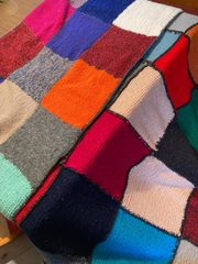Strick -Patchwork Decke