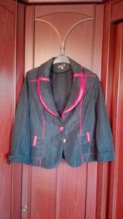 Damen-Blazer rot schwarz Gr 42