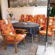 Gartenmöbel Set mit Auflagen fast