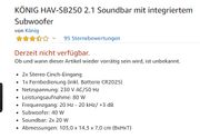 Verkaufe Soundbar 2 1 von