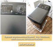 Exquisit Toplader Waschmaschine schwarz 7kg