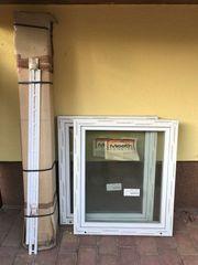 Doppelfenster mit Rollladenkasten und Kunststoffpanzer