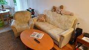 Wohnzimmercouch 3-Sitzer und Einzelcouch mit