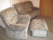 Sessel Hocker Sofa 2-Sitzer sehr