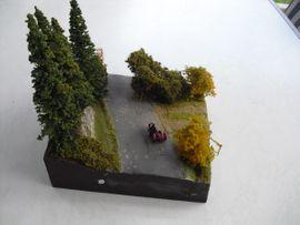 RC-Modelle, Modellbau - Diorama Motorrad Beiwagen Gespann Harley