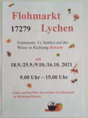 Flohmarkt 17279 Lychen Richtung Retzow