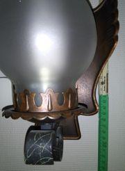 Lampe Wandlampe mit Kupferrahmen und