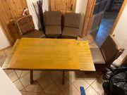Esszimmer Garnitur Tisch 6 Stühle