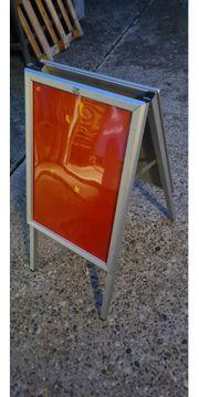 Klappaufsteller Stellstafel Aluminium
