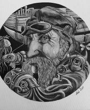 Bild Gemälde Handgemaltes Acrylbild Borrum