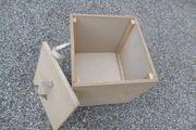 3 x Holzkiste Aufbewahrung Handarbeit