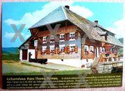 alte Ansichtskarte -Geburtshaus des Malers