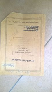 KFZ Brief Original NSU Fox