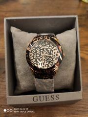 Guess Armbanduhr Leopardenmuster