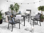 Gartenstuhl grau Kunstholz 4er Set