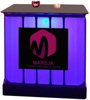 LED-Tank mit Tischplatte und Werbung