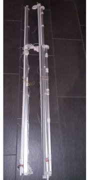 4 St Raffrollostangen mit Vorhängen