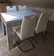 Esstisch Set Tisch in Betonoptik