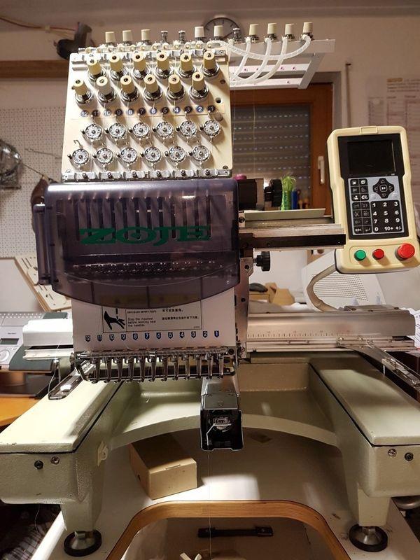 Stickmaschine 12 Nadel Einkopf Industriestckmaschne