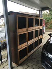 Kaninchenställe 6x Doppelbox
